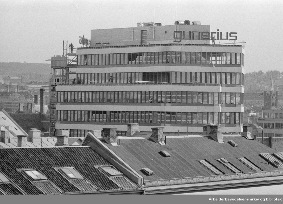 Storgata: Gunerius-hjørnet. Oktober 1971