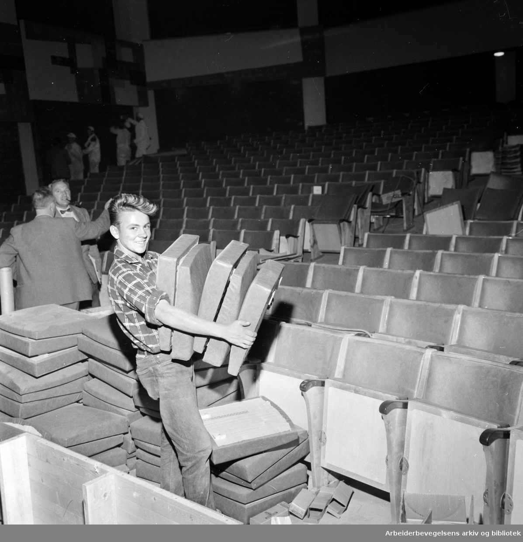 Soria Moria kino ombygges og åpner i kveld. August 1959