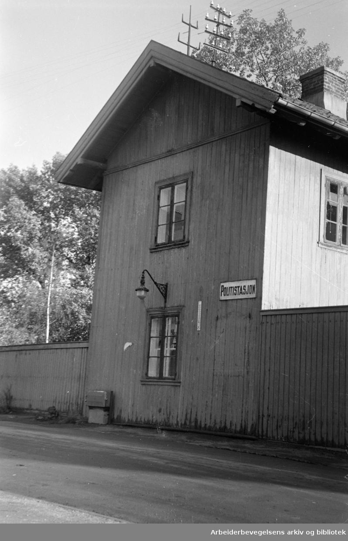 Sagene politistasjon, Maridalsveien 91. Oktober 1946.