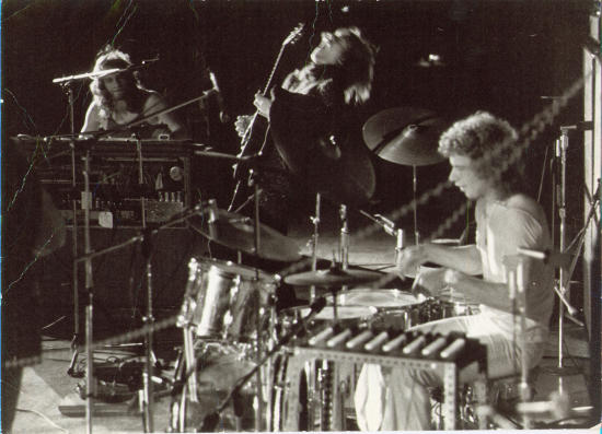 Bill Bruford med Yes, i 1971.
