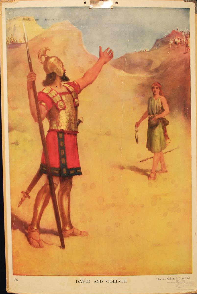 David og Goliat.