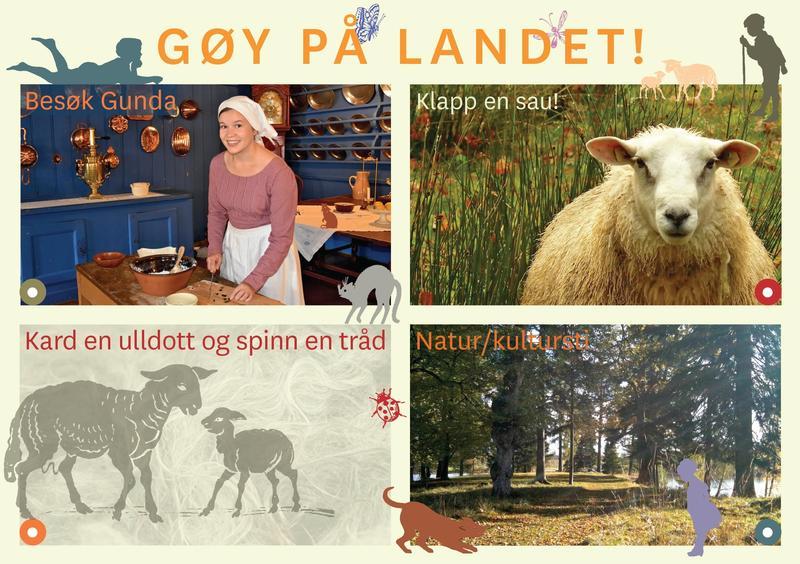 Aktivitetskort for barn på Bogstad Gård
