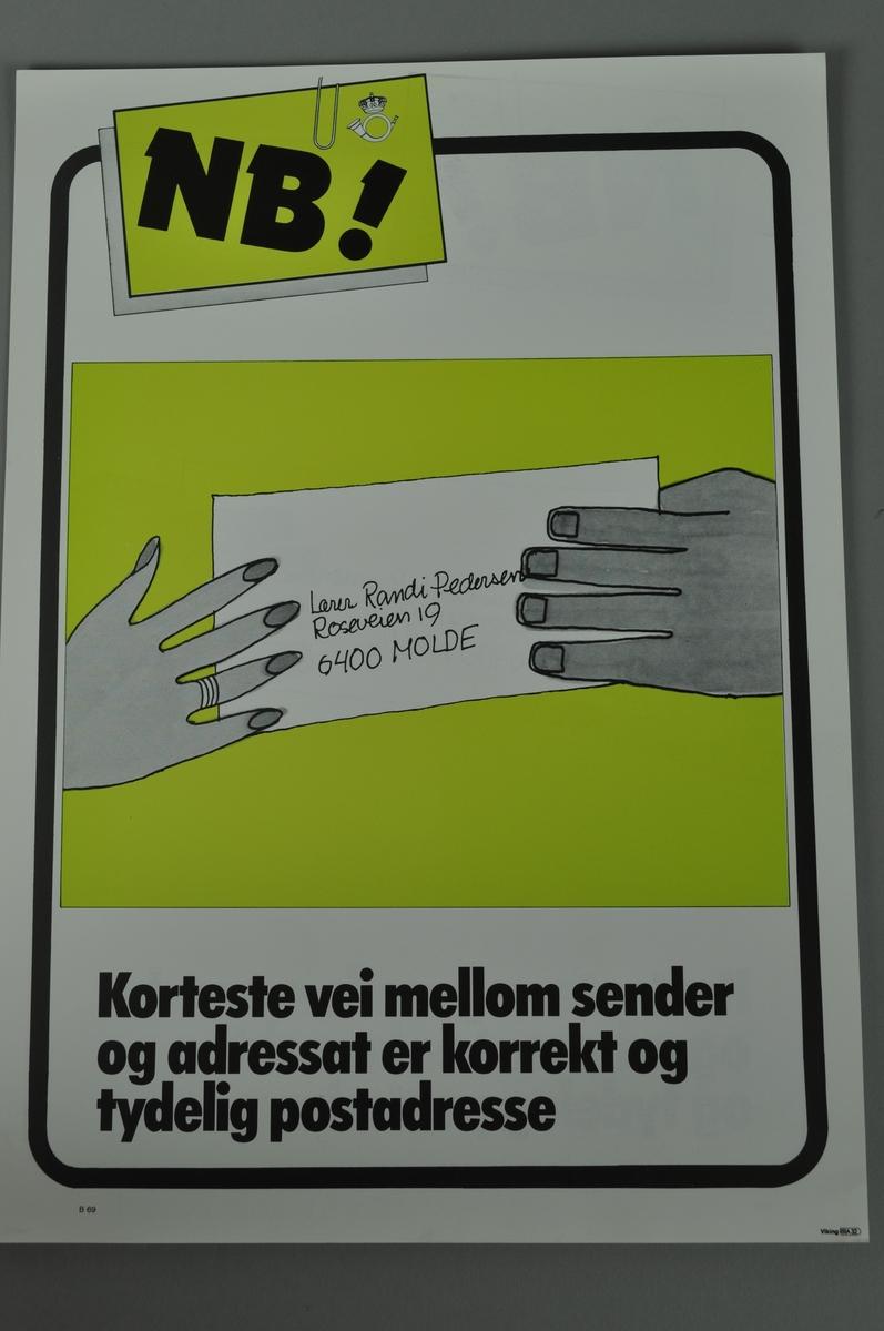 Informasjonsplakat på både bokmål og nynorsk.