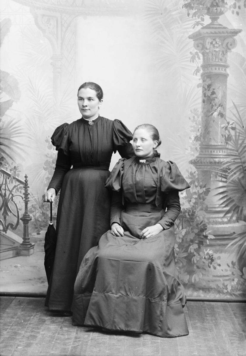 Portrett av to kvinner, Mari Bakken til venstre, Anna Myhre til høgre