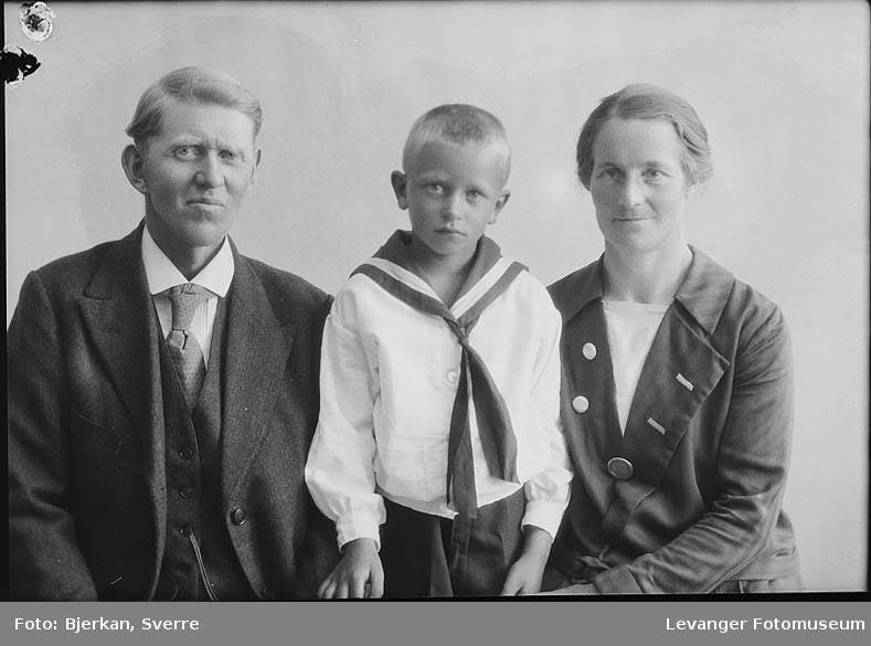 Gruppebilde av en familie En av Dem heter Johan Nordenborg