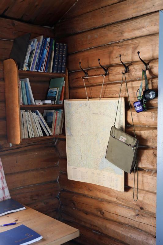 DNT-hytte på Norsk Folkmuseum 07.02.18. Foto: Astrid Santa, Norsk Folkemuseum.
