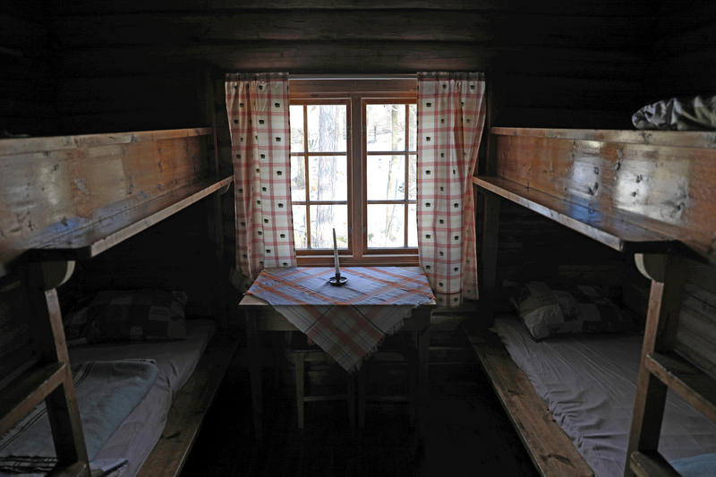 DNT-hytte på Norsk Folkemuseum. 07.02.18. Foto: Astrid Santa, Norsk Folkemuseum.