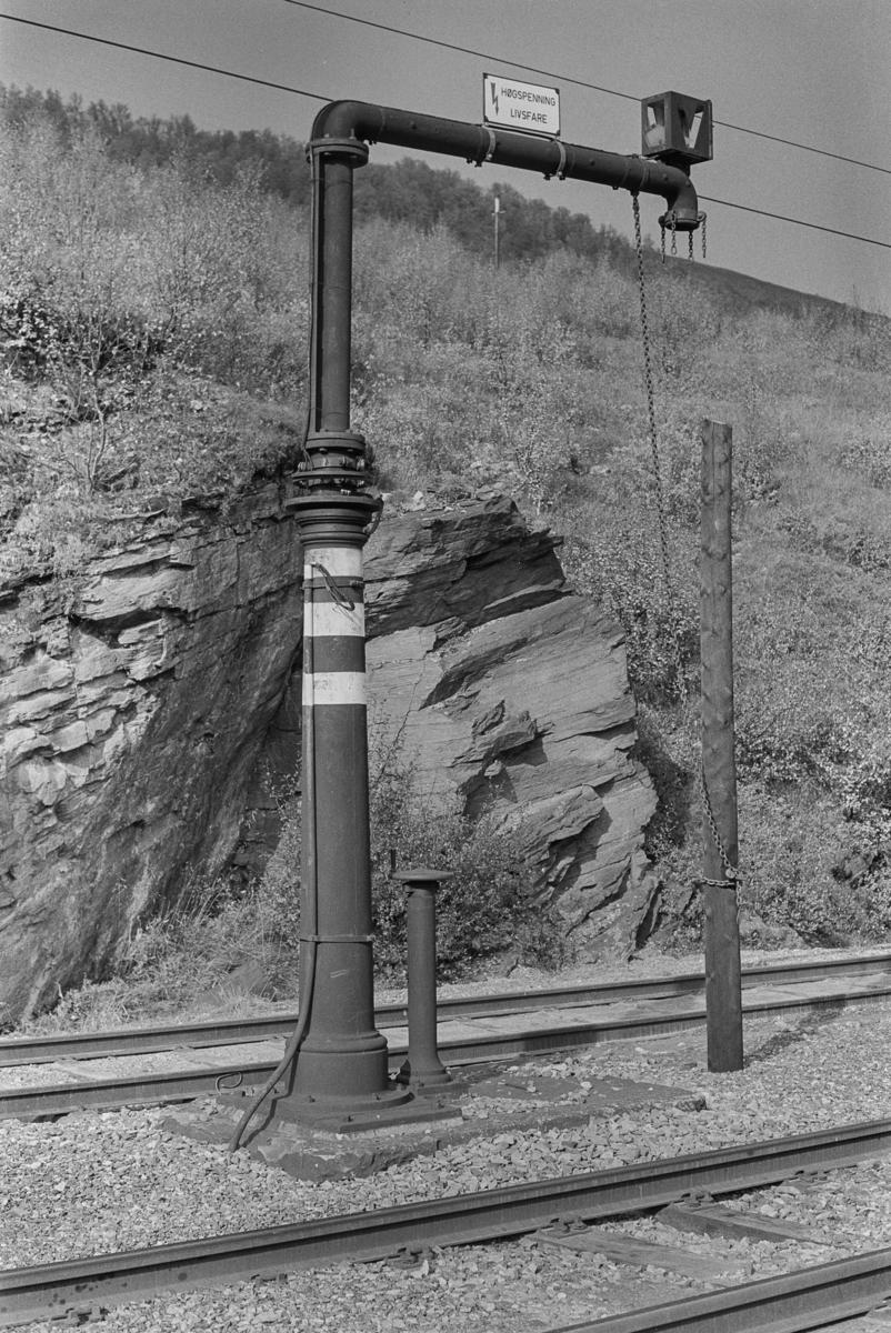Vannstenderen på Kongsvolll stasjon.