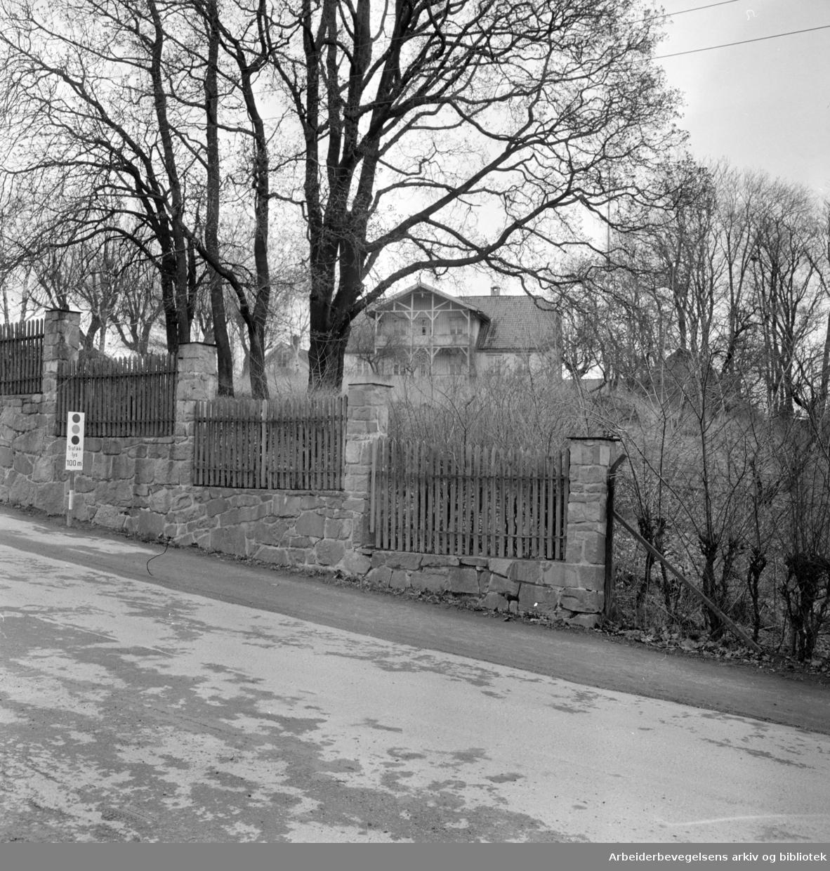 Øvre Blindern gård. April 1964