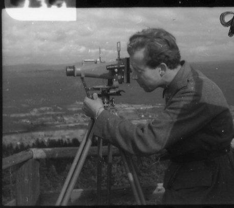 Fotgrafering med panoramakamera.