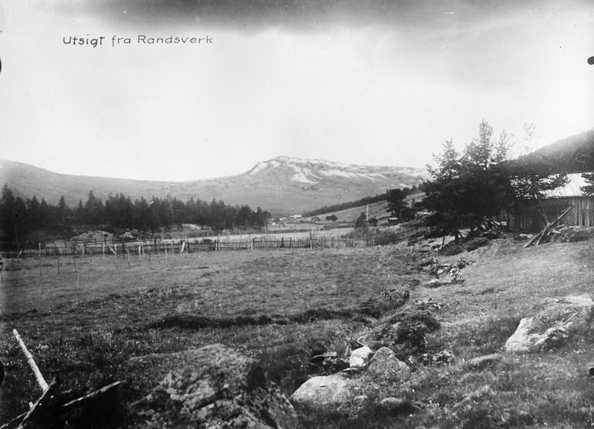 Landskap, bebyggelse, utsikt fra Randsverk