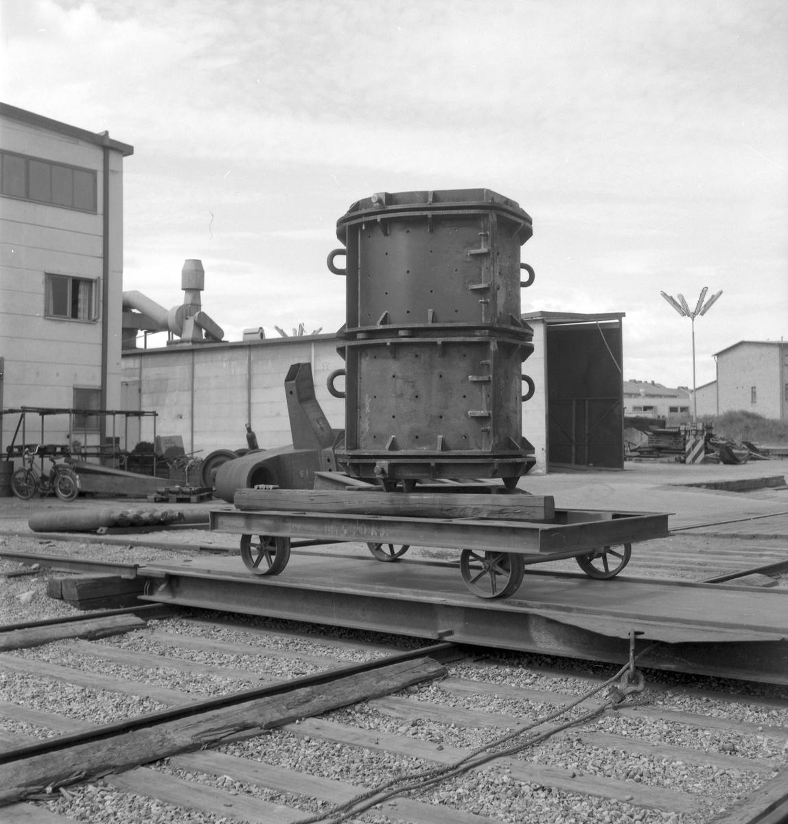 27 juli 1962 Swendsén & Wikström Värmepannefabrik på Brynäs. Företaget köptes upp av Svenska Järnvägsverkstad 1955 Och fick namnet ASJ-PARCA.