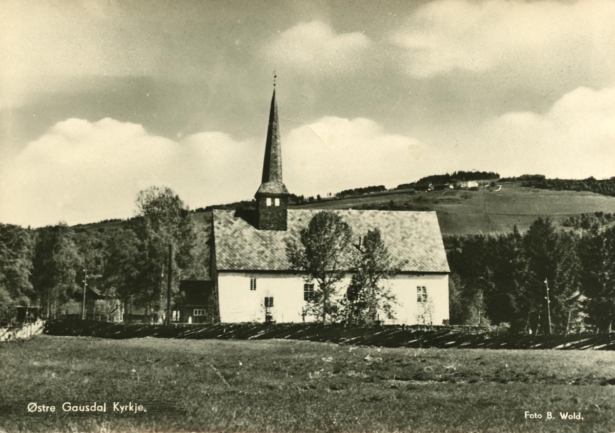 Postkort: Østre Gausdal kirke