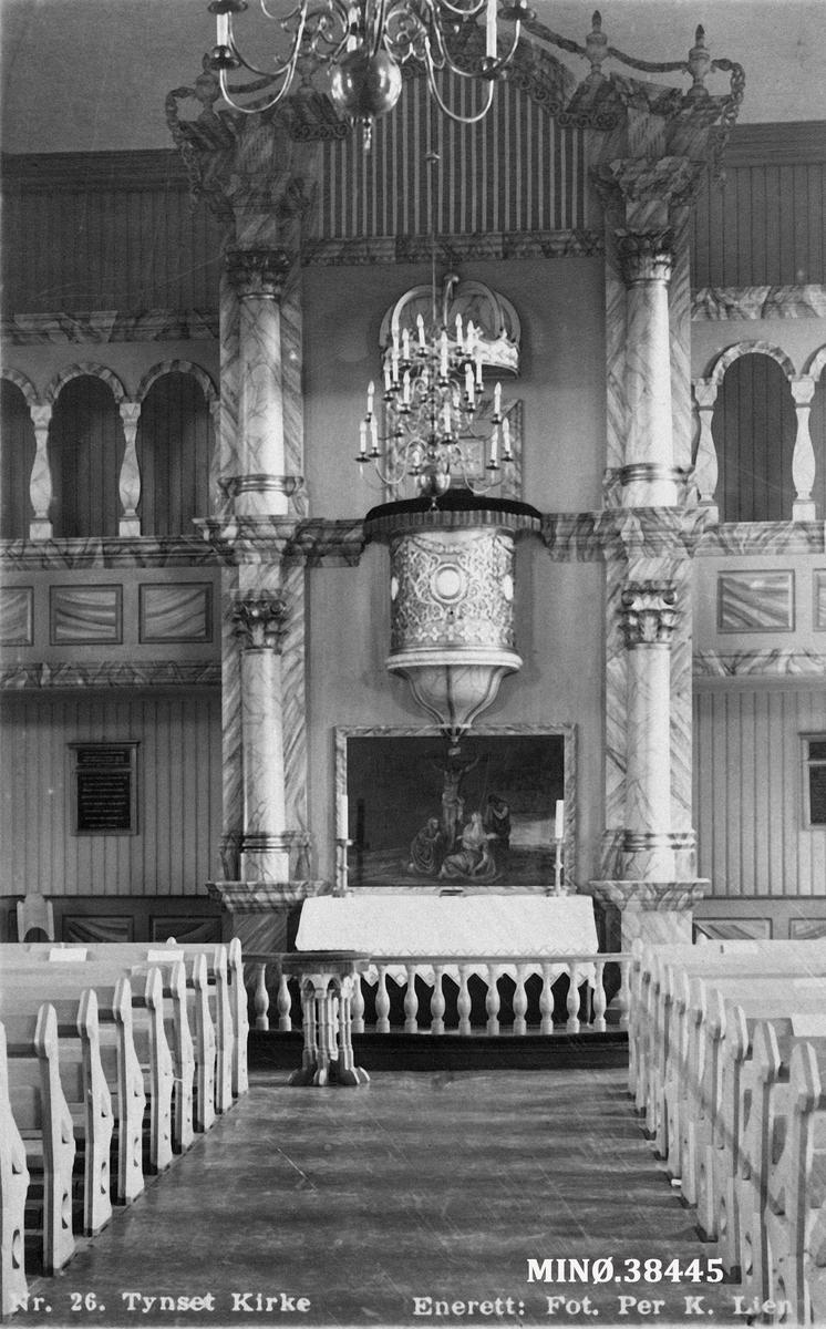 Interiør fra Tynset kirke