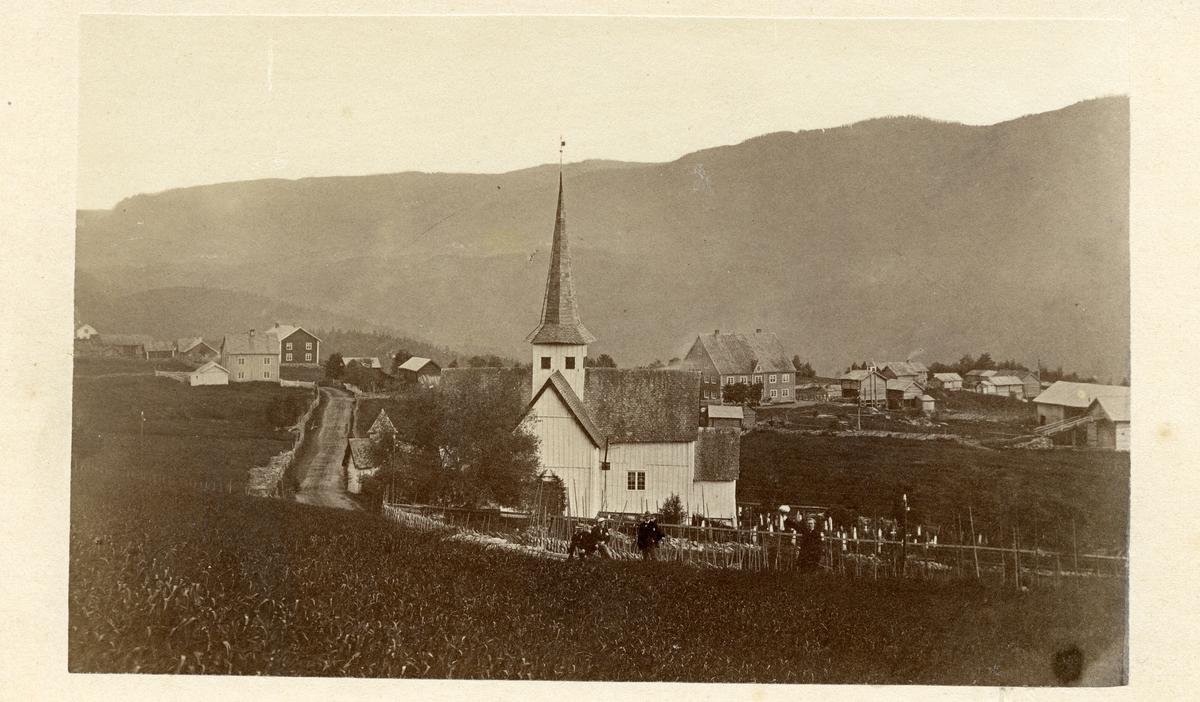 Aurdal kirke, før 1880.