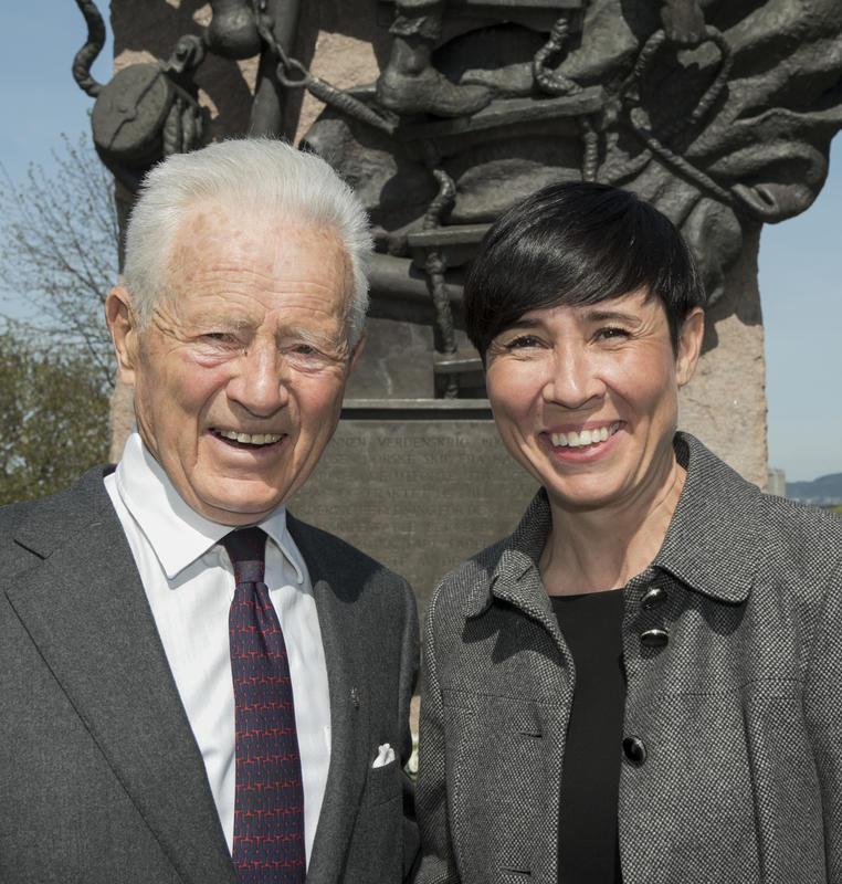 Hans Herman Horn og utenriksminister Ine Marie Eriksen Søreide, 8. mai 2018.