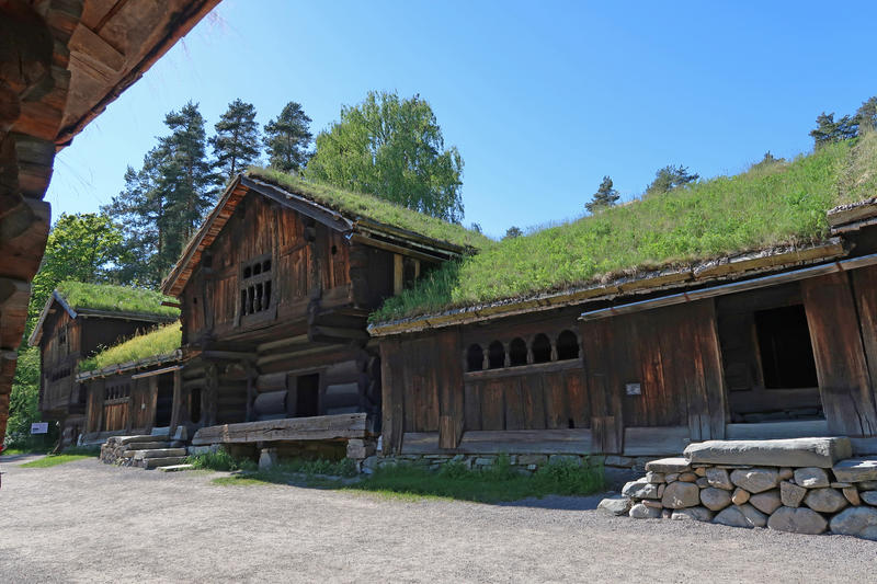 Setesdalstunet på Norsk Folkemuseum. Foto: Astrid Santa, Norsk Folkemuseum.