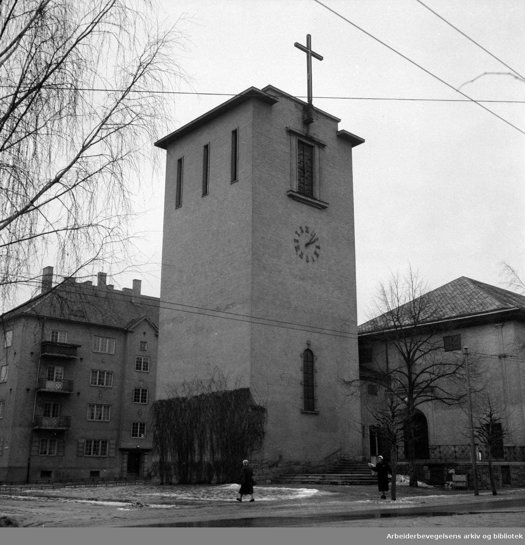 Prestenes kirke. Februar 1957