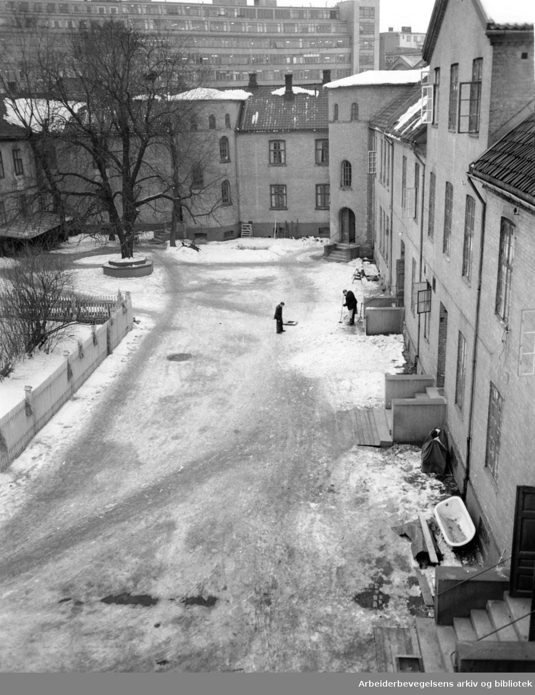 Prinds Christian Augusts Minde er et sosialhistorisk viktig anlegg i Storgata 36. Januar 1950