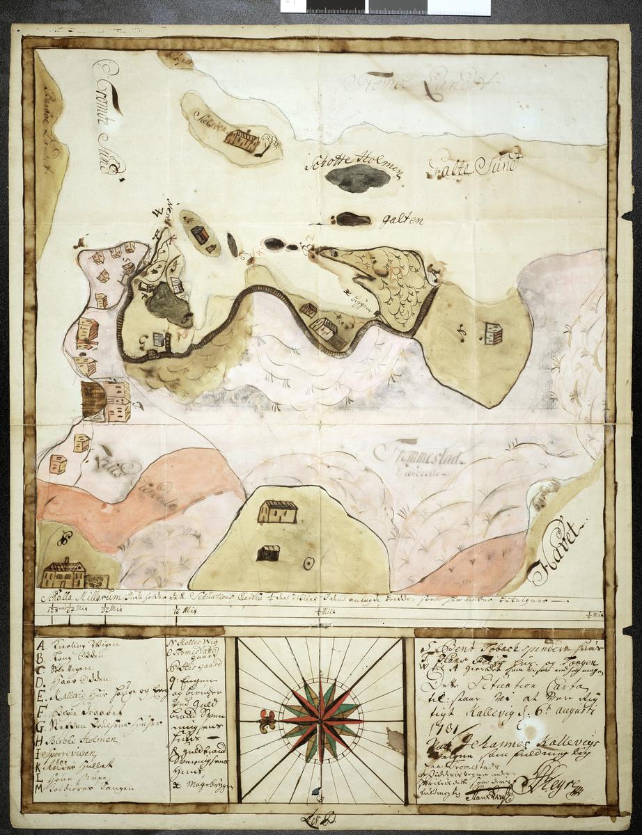 Kart over östre Hisöy og Skilsöy