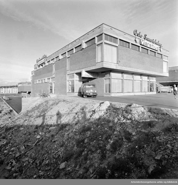 Manglerud: Oslo Samvirkelag, Manglerud.i nytt varehus. September 1966