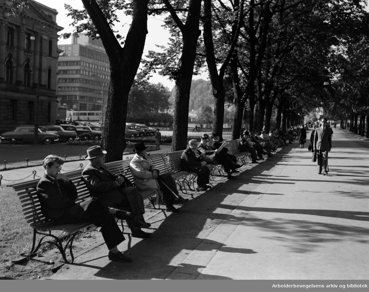 Karl Johans gate. September 1953