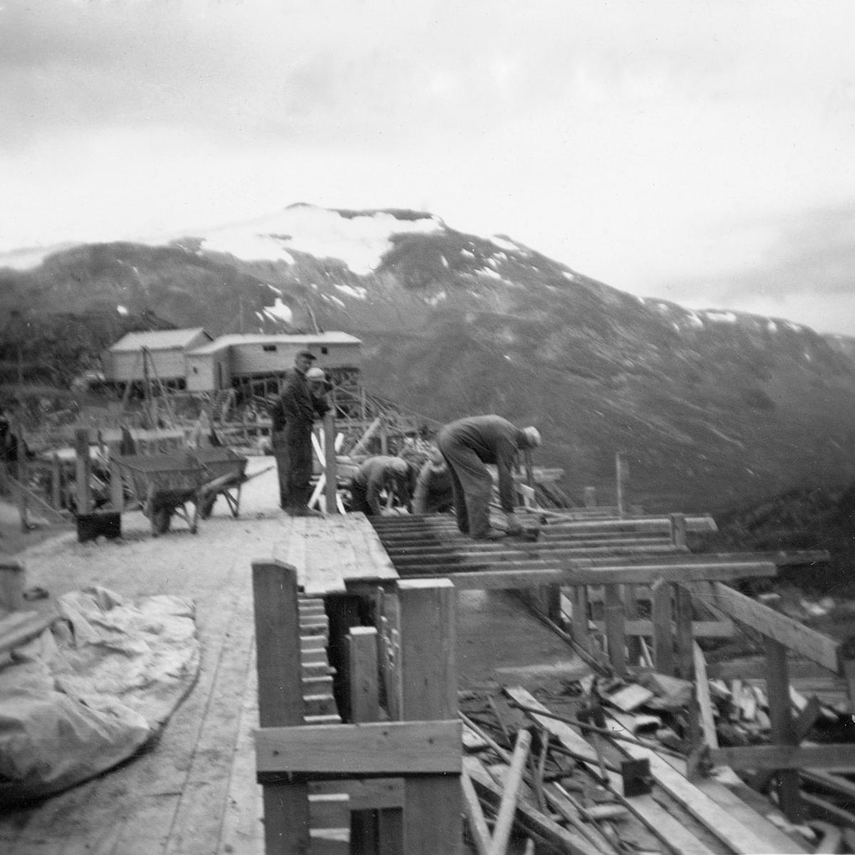 Kraftutbygging i Gravdalen, demning, kraftverk