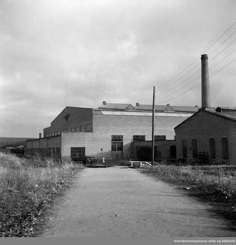 Grorud Jernbaneverksted. Januar 1946