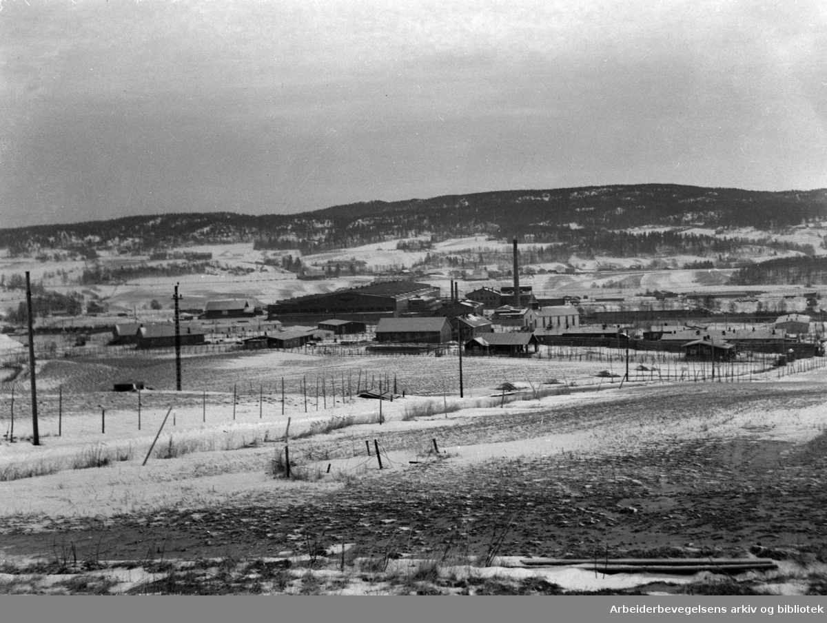 Grorud Jernbaneverksted. November 1947