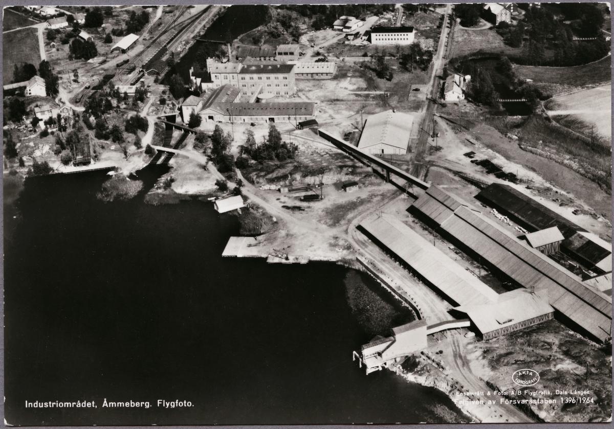 Flygvy över industriområdet i Åmmeberg.