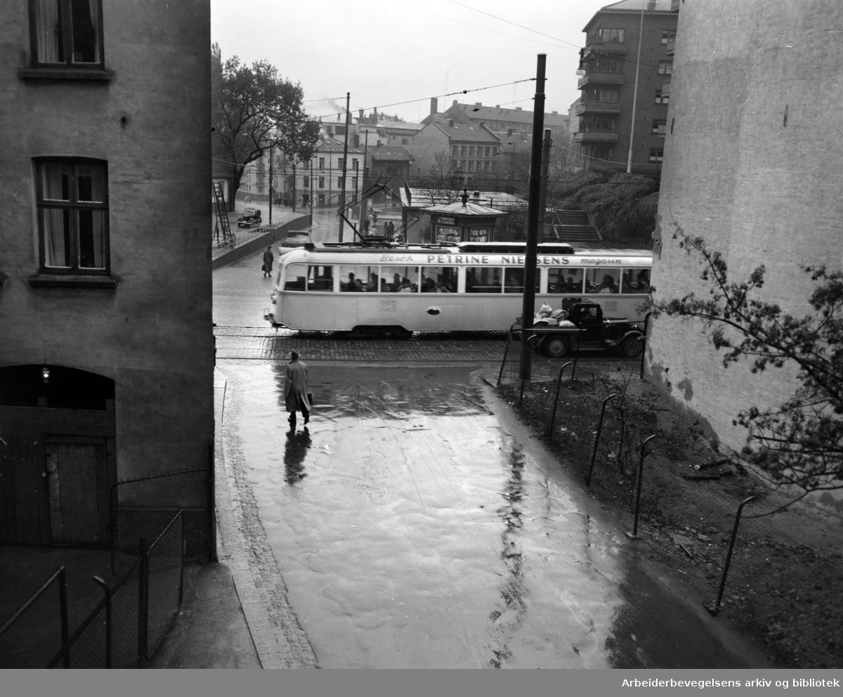 Galgeberg. Gamle hus. 1950