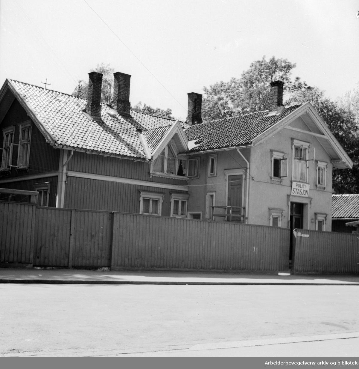 Frogner Politistasjon. Mai 1946