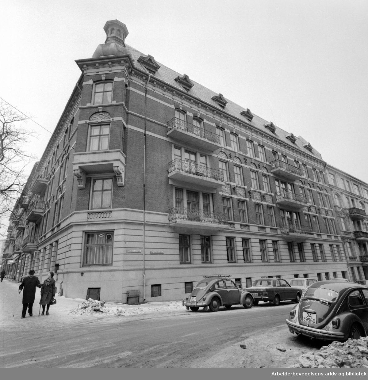 Bygdøy Allé nr. 64. Februar 1976