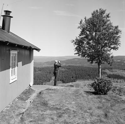 Utsiktstårnet ved brannvaktstasjonen på Flotsberget.