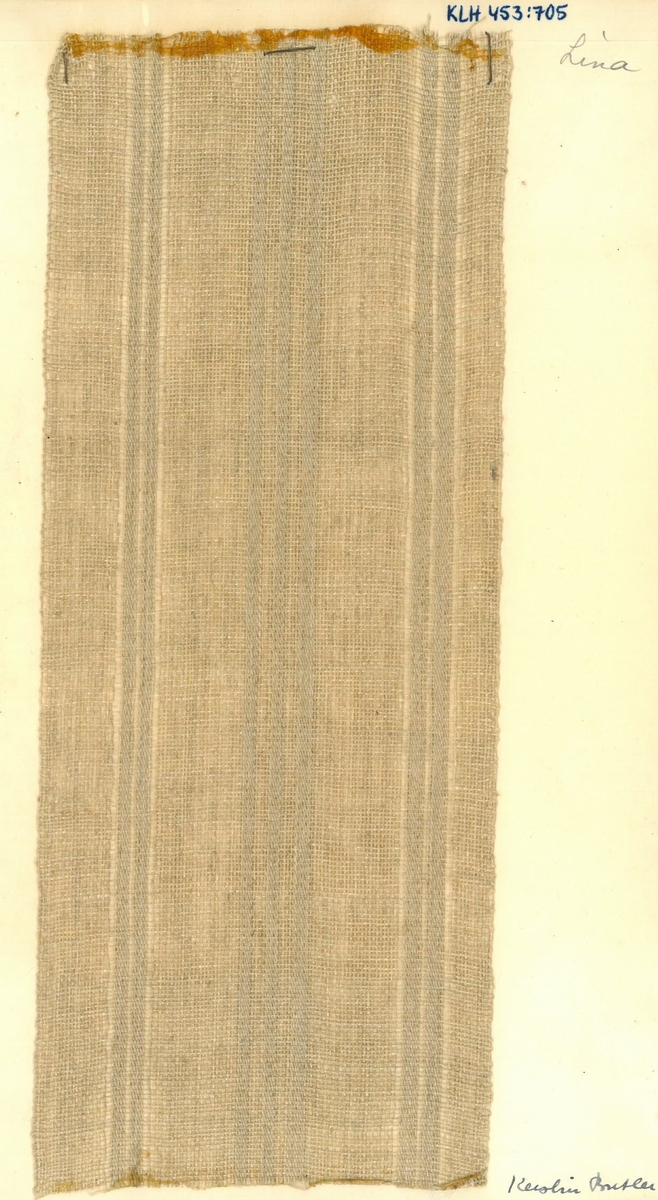 """Pärm med vävprover till gardiner. Gardin """"Lina"""" Formgivare: Kerstin Butler 1961-1969"""