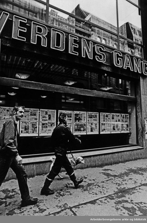 Akersgata. Verdens Gang. 17. juni 1985