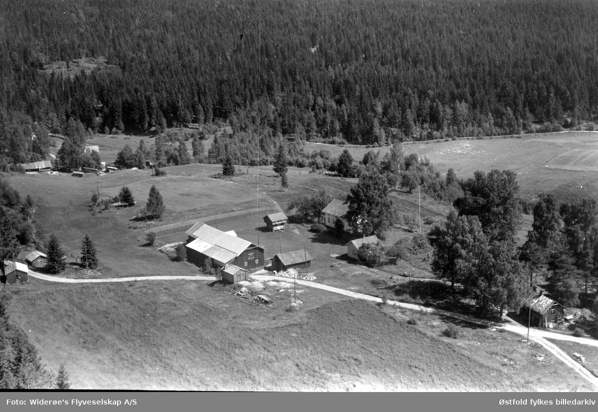 Nordli 67/10. Flyfoto fra Rømskog.