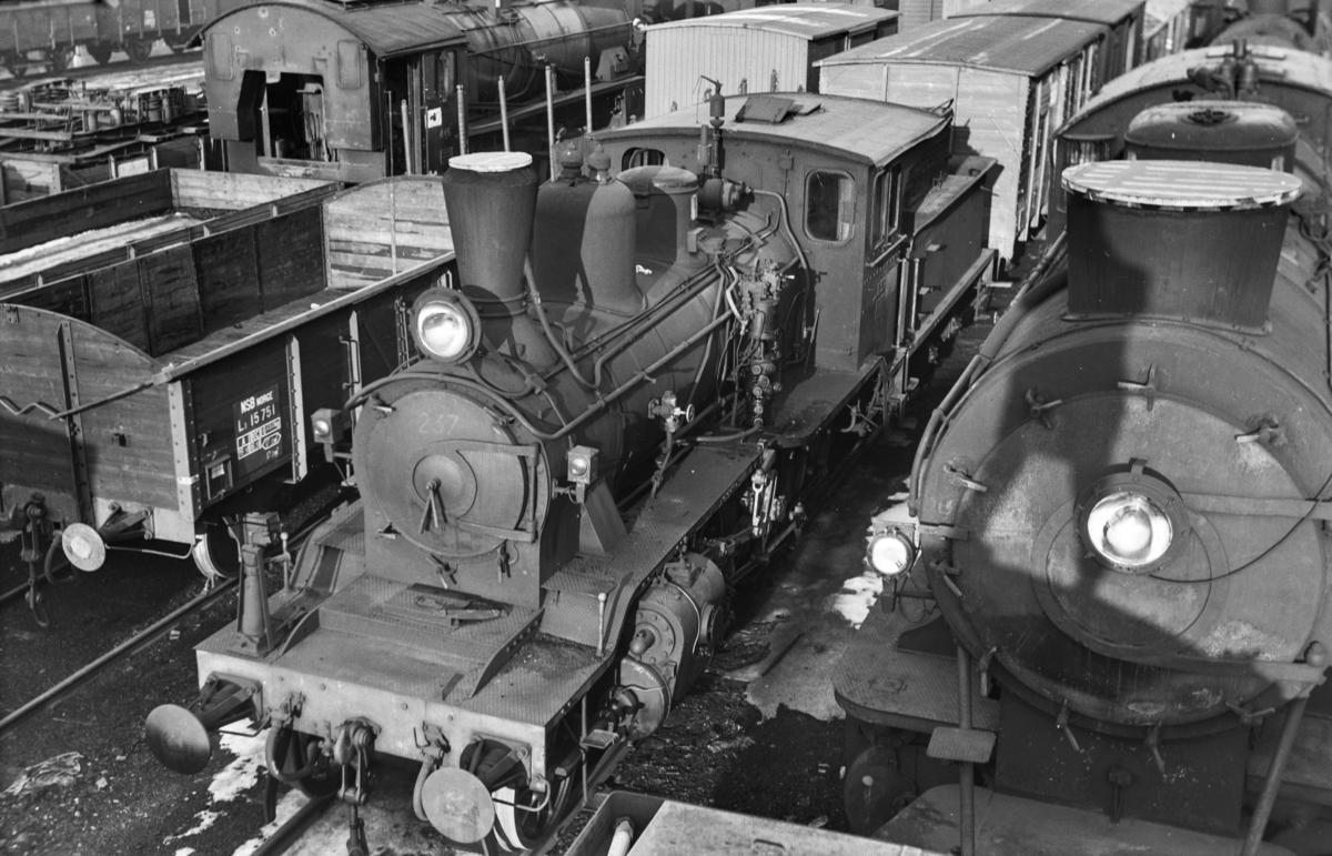 Hensatt damplokomotiv type 21b nr. 237 i Lodalen i Oslo.