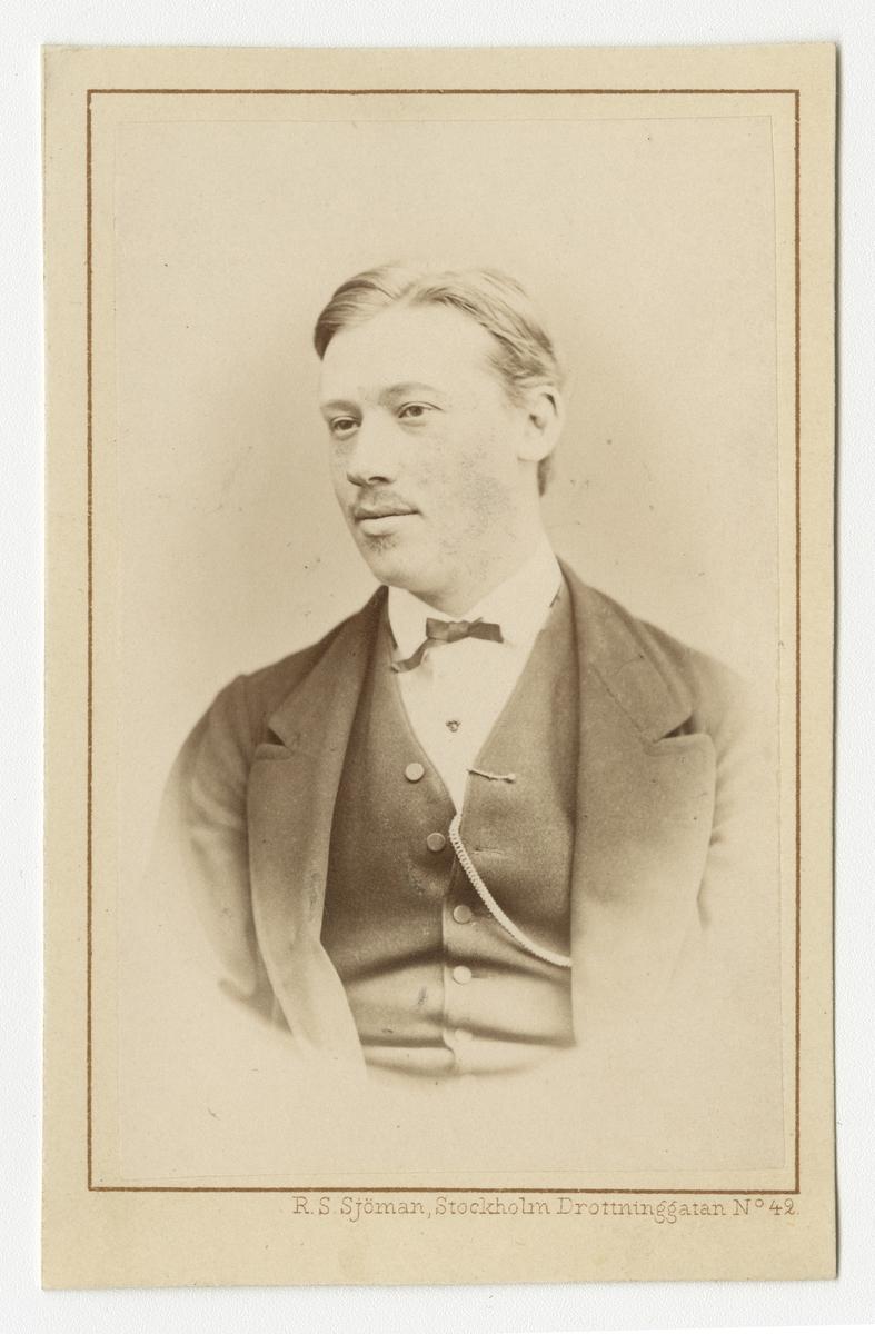 Porträtt av Johan Jakob Gustaf Uno Normelli, officer vid Fortifikationen.
