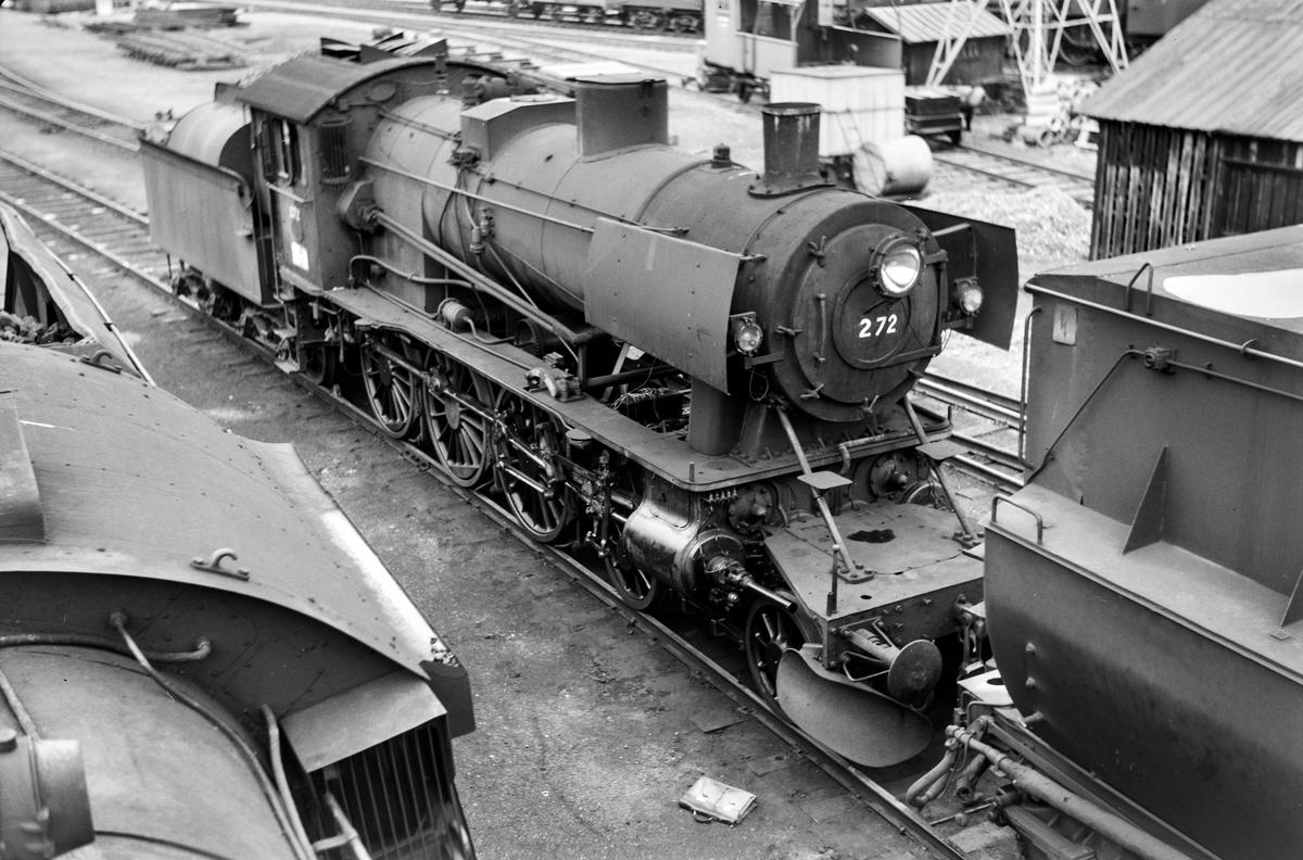 Damplokomotiv type 30a nr. 272 på Marienborg.