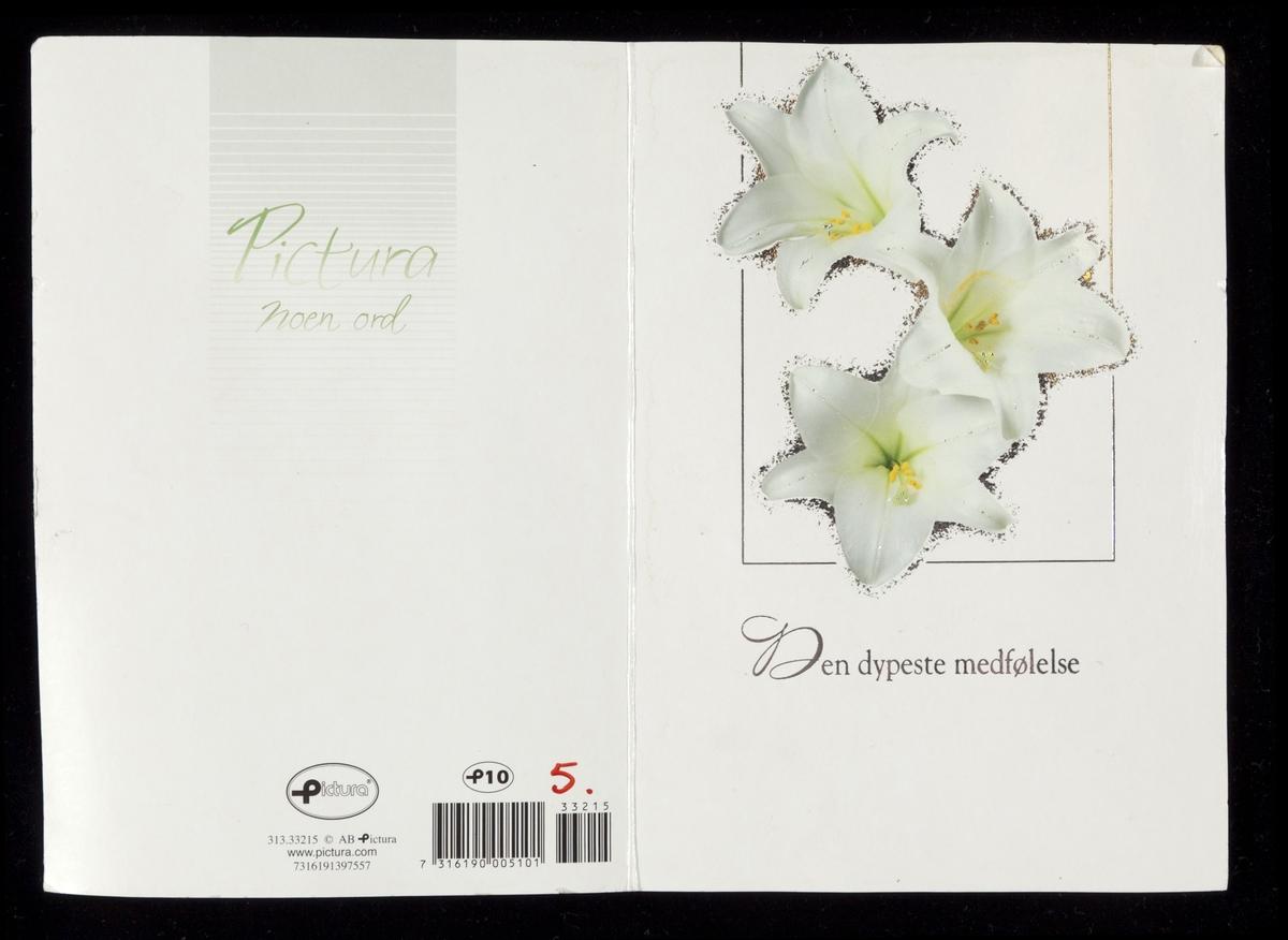 Tre hvite liljer.