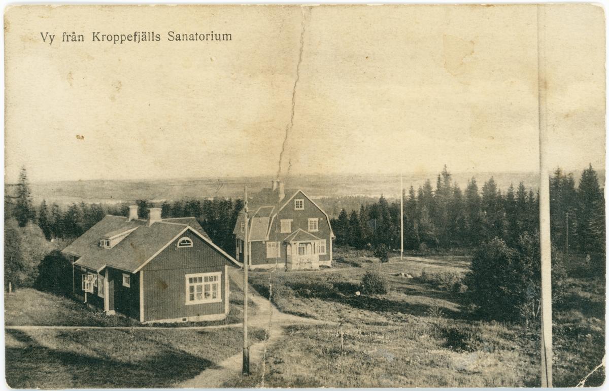 Vy från Kroppefjälls sanatorium