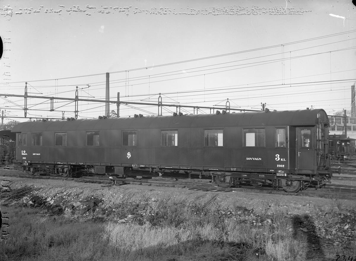 Statens Järnvägar, SJ ACo4 2902. Vagn byggd i Arlöv 1931.