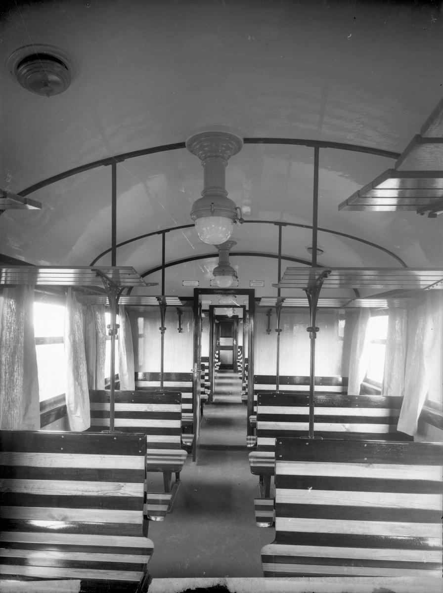 Karlskrona - Växjö Järnväg, CWJ Co 38, interiör.