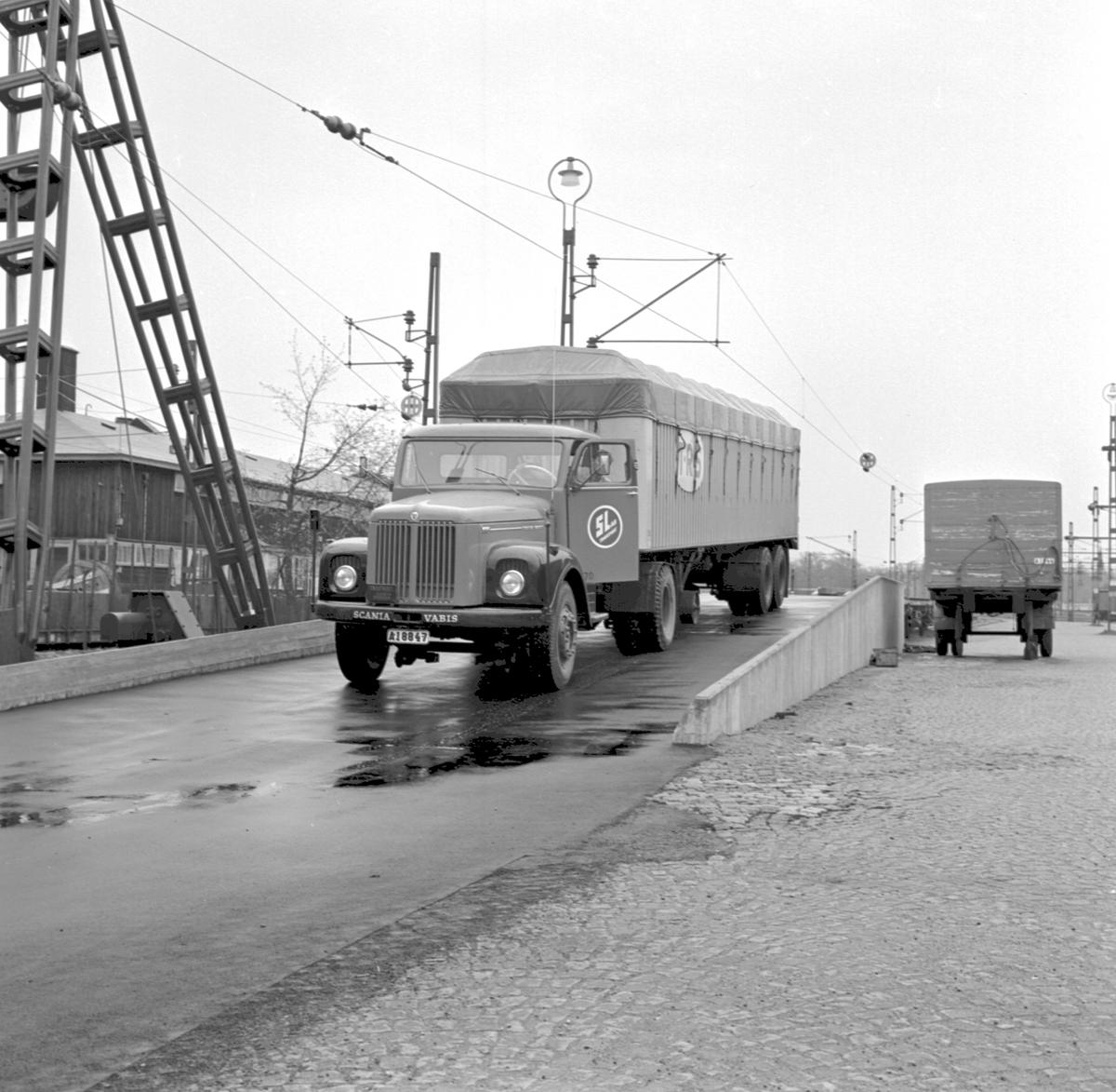 Piggy-Backtransport. Scania Vabis. T.R.S.