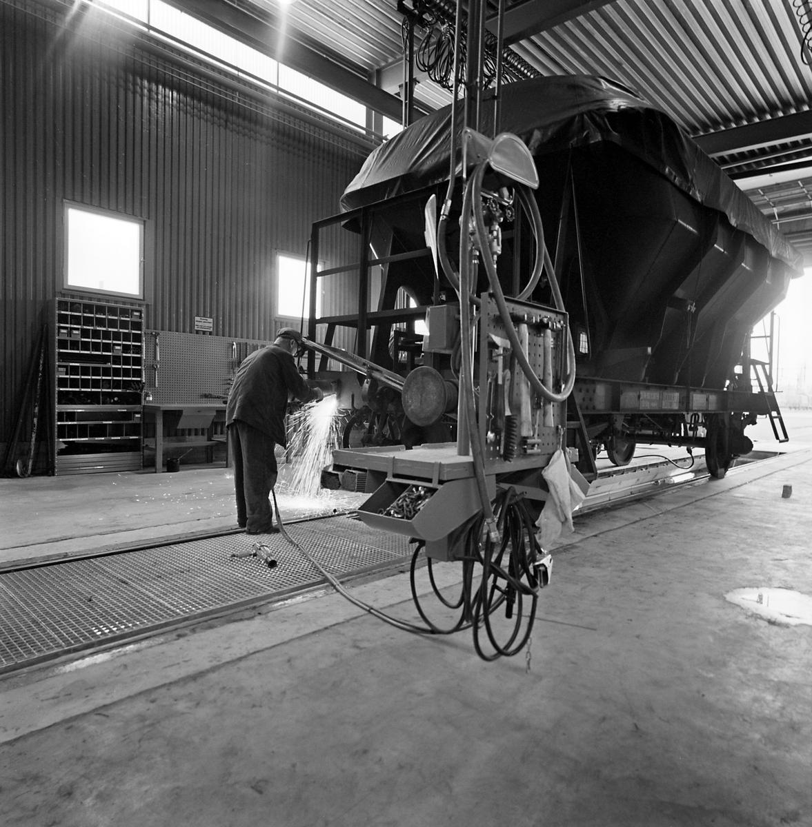 Svetsning. Ny vagnverkstad, Nässjö
