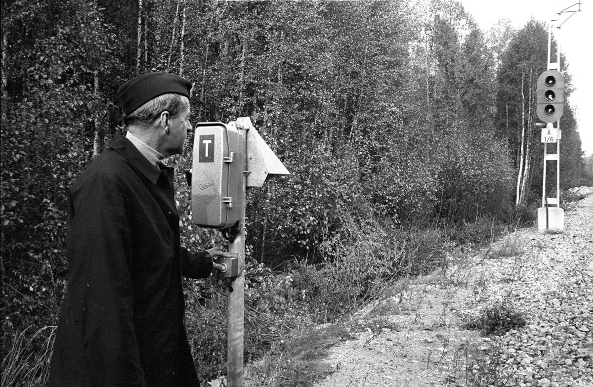 Fjb, fjärrblockering. Invigning sträckan Mjölby - Hallsberg, My-H