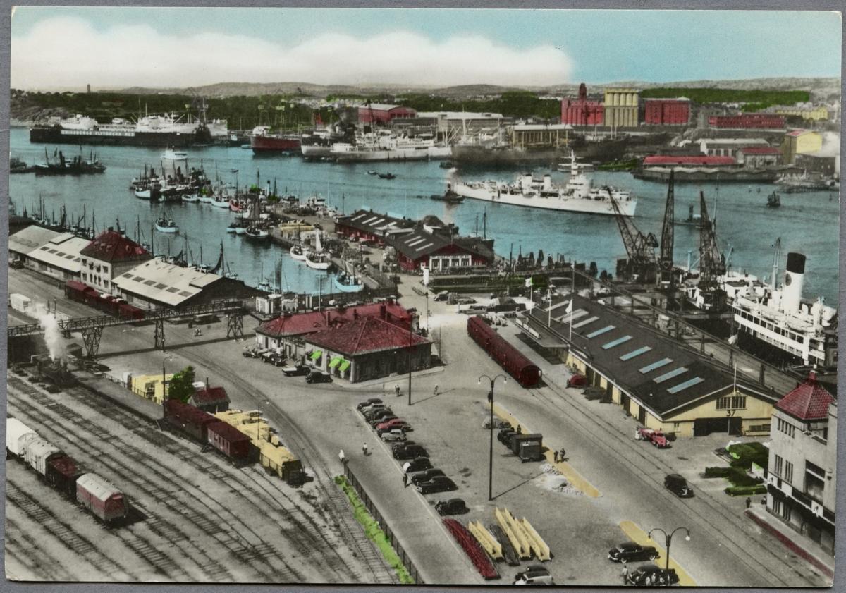 Göteborgs hamn. Fiskhamnen och Englandskajen.