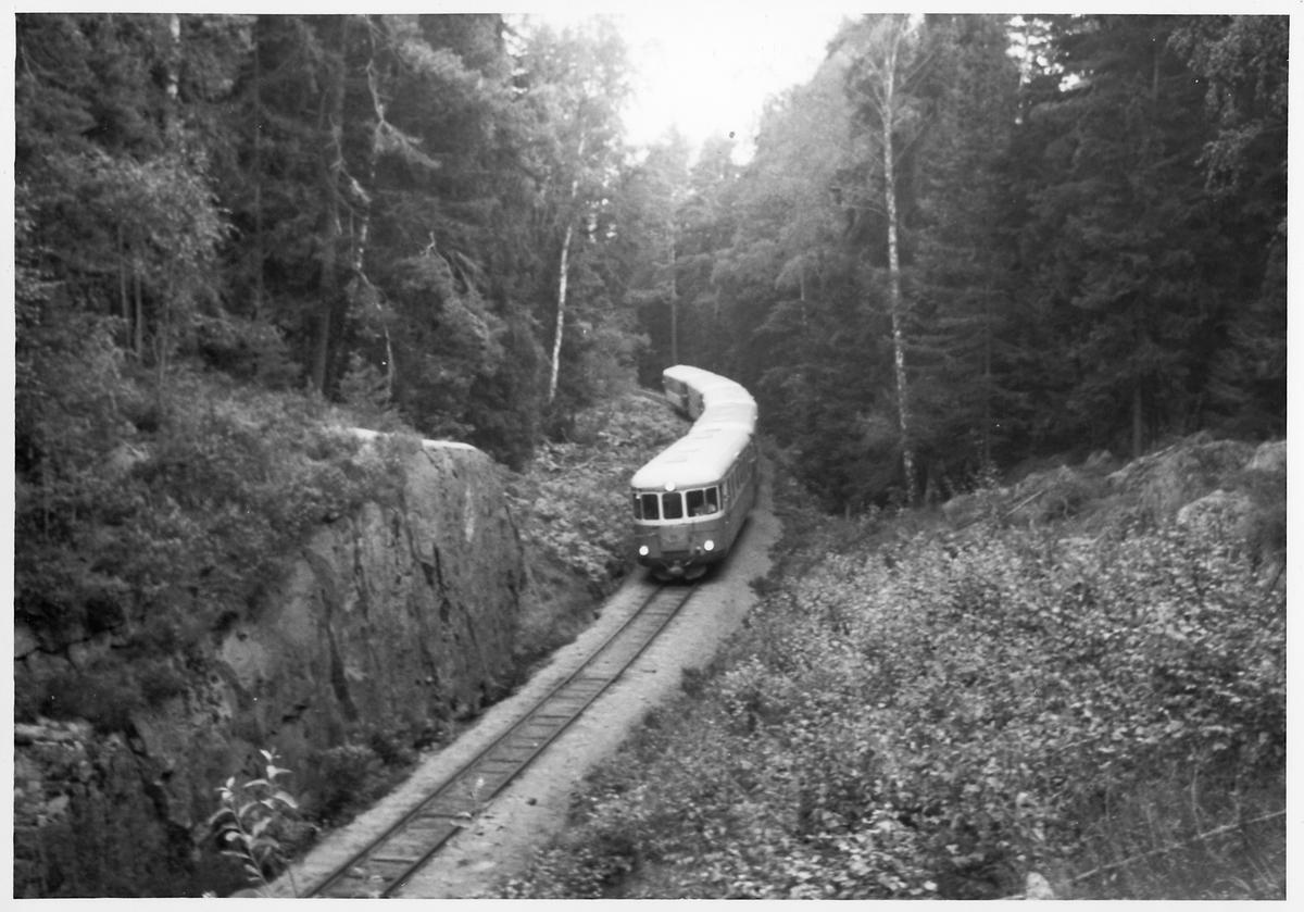 Statens Järnvägar, SJ YP rälsbusståg på linjen mellan Jenny och Verkebäck.
