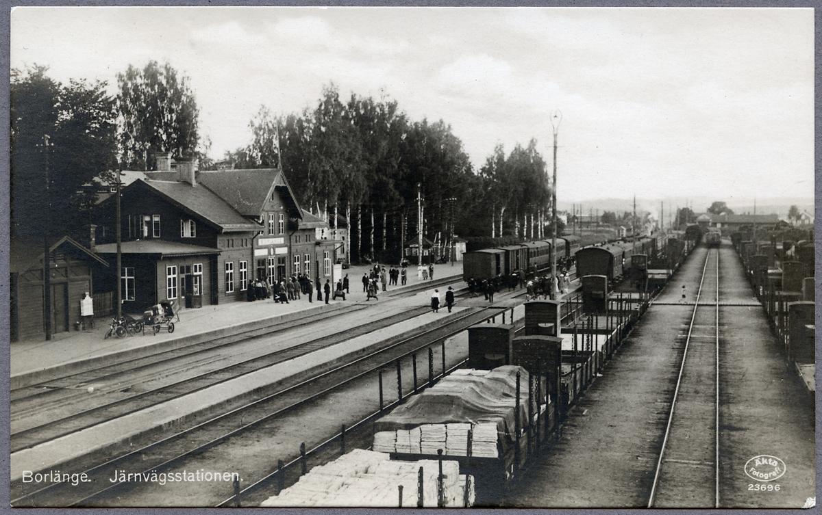Stationsområdet i Borlänge.